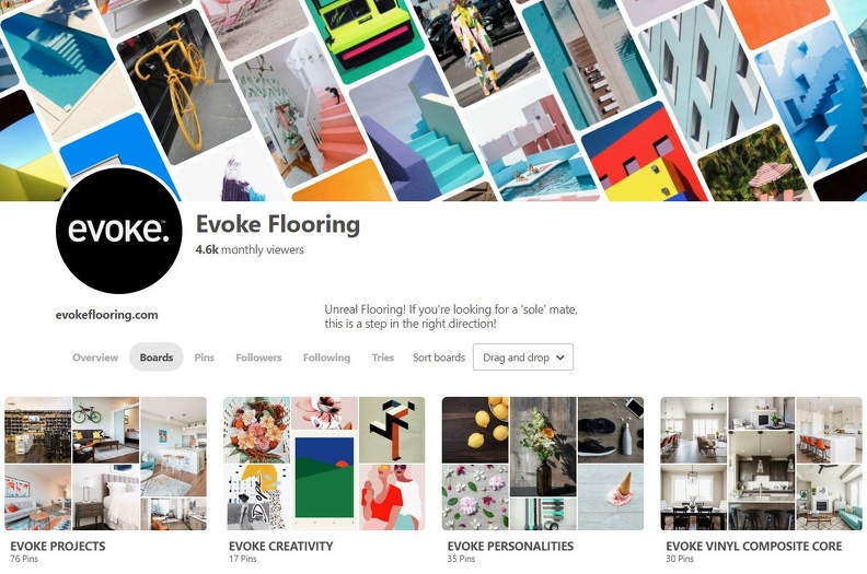 Pinterest image of Evoke Flooring