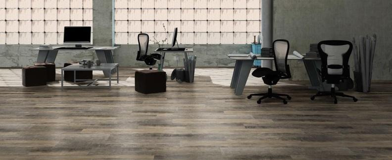 Evoke Contract Luxury Vinyl - in an office space